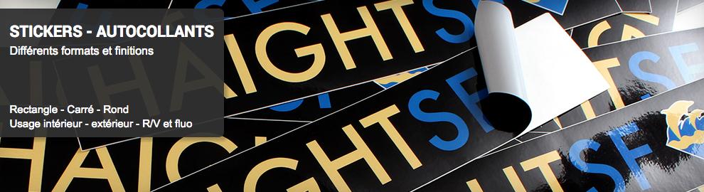 Impression stickers personnalisé