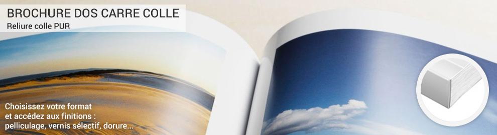 Impression Catalogue dos carré collé