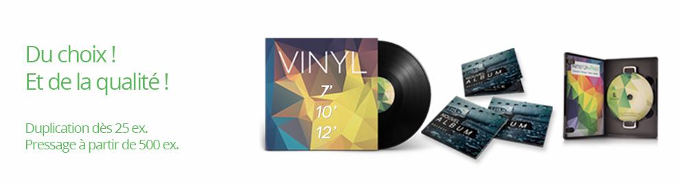 Pressage Vinyle - Vinyl - Disque vinyle