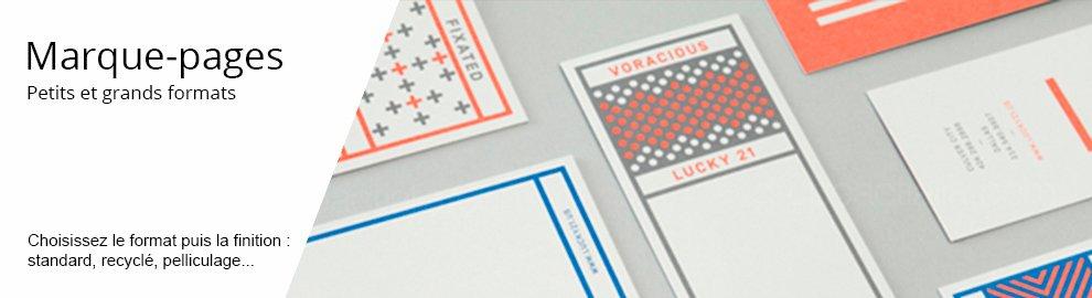 Impression marque page - menu banniere