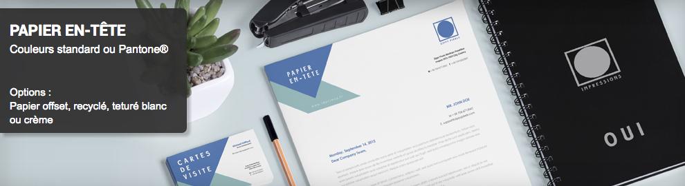 Papier à lettre personnalisé