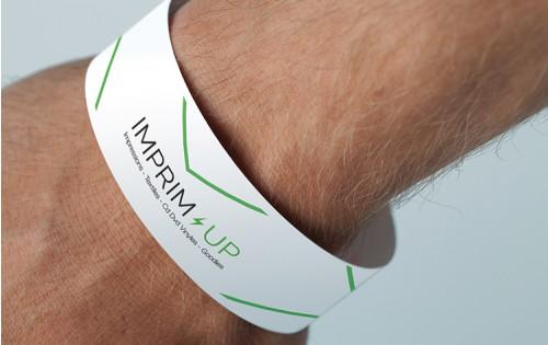 Bracelet Tyvek indéchirable - usage unique