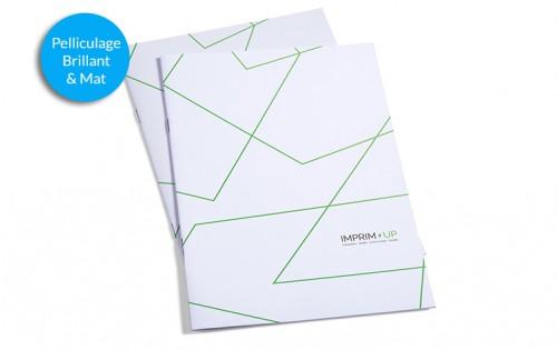 Brochure agrafée A6 Portrait - Pelliculage - Couverture papier couché 250g et intérieur 135g