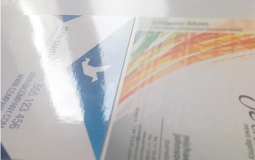carte de visite carrée 65 x 65 mm pelliculage