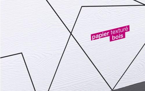 Carte de visite papier texturé bois 85 x 55 mm