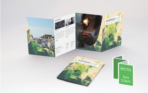 Dépliant A5 Portrait - Pli accordéon 8 pages - 4 volets - papier couché