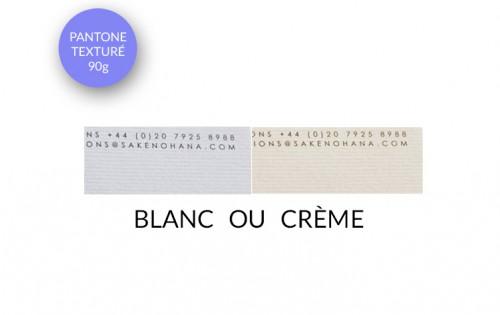 Papier entête (ou papier à lettre) texturé - Impression couleur quadri