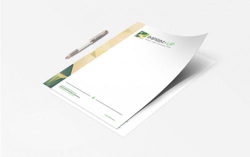 Papier entête (ou papier à lettre) - Impression couleur quadri