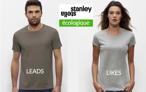 Stanley & Stella coton organique Homme LEADS + Femme LIKES