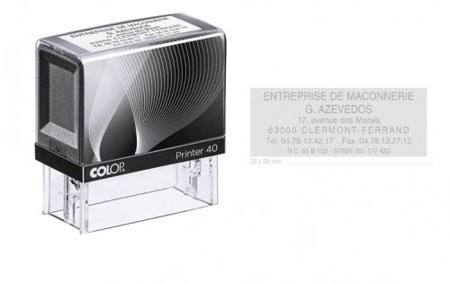 Tampon Colop 10 Rectangle - 59 x 23 mm - 6 lignes