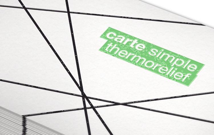 Carte De Visite Thermorelief 85 X 55 Mm