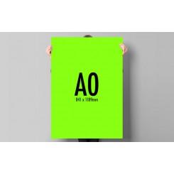 affiche fluo A0