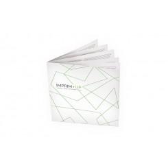 Brochure agrafée carrée 12 x 12 cm - Papier couché de 135g