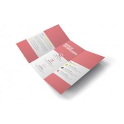 Dépliant 10,5 x 21cm - pli roulé 6 pages