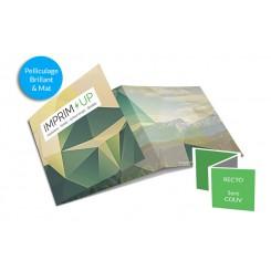 Dépliant carré - pli accordéon - 6 pages avec pelliculage
