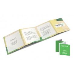Dépliant carré 10 x 10 cm Pli accordéon 8 pages - 4 volets - papier couché