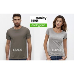 Stanley & Stella coton organique Homme LEADS + Femme LOVES