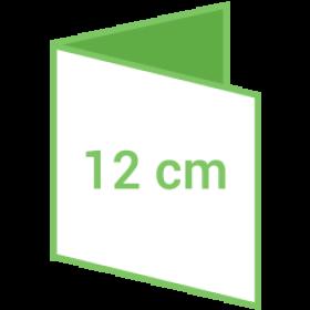 Dépliant carré 12cm - 4 pages - 2 volets - classique