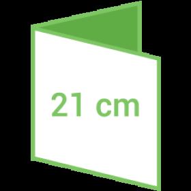 Dépliant carré 21cm - 4 pages - 2 volets - classique