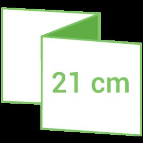 Dépliant carré 21cm - Pli accordéon 6 pages - 3 volets - classique