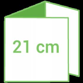 Dépliant carré 21cm - Pli roulé 6 pages - 3 volets - pelliculage