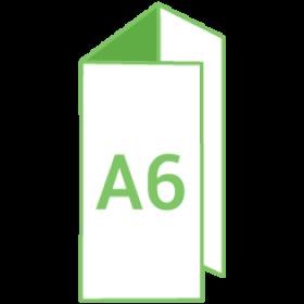 Dépliant A6 Portrait - Pli roulé 6 pages - 3 volets - classique