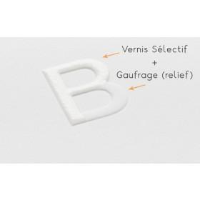 Brochure agrafée carrée 21 x 21 cm - Pelliculage + Vernis Sélectif + Gaufrage
