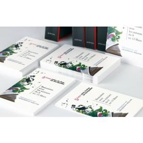 Carte de visite papier recyclé 85 x 55 mm