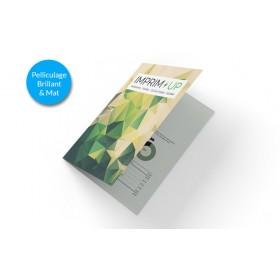 Dépliant A5 portrait 4 pages - pelliculage mat ou brillant