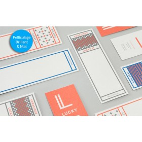 Marque page 52 x 200 mm - Pelliculage