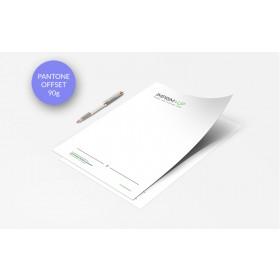 Papier entête (ou papier à lettre) Offset - Impression couleurs Pantone