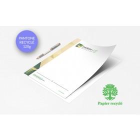 Papier entête (ou papier à lettre) Recyclé - Impression couleurs Pantone