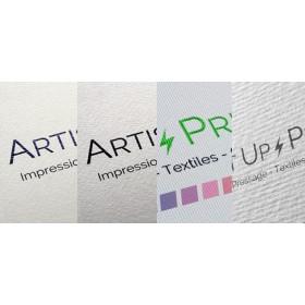 Carte de visite papier texturé rives 85 x 55 mm