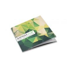Dépliant carré 10cm - Pli roulé 6 pages - 3 volets - classique