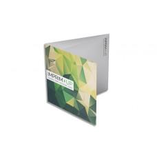 Dépliant carré 14,8cm - Pli roulé 6 pages - 3 volets - classique