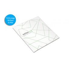 Brochure agrafée carrée 14,8 x 14,8 cm - Pelliculage - 250g/135g