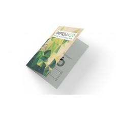 Dépliant 10x21cm Portrait - 4 pages - 2 volets - classique