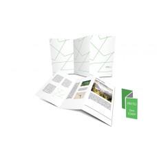 Dépliant 10x21cm Portrait - Pli accordéon 6 pages - 3 volets - classique