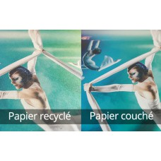 Flyer Carré 10cm - Papier Recyclé