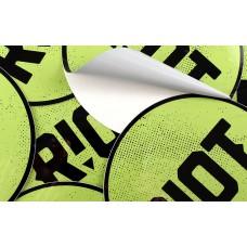 Stickers autocollant - Rond 9,5 cm