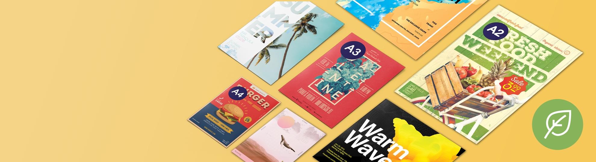 Imprimer affiche papier recyclé écologique