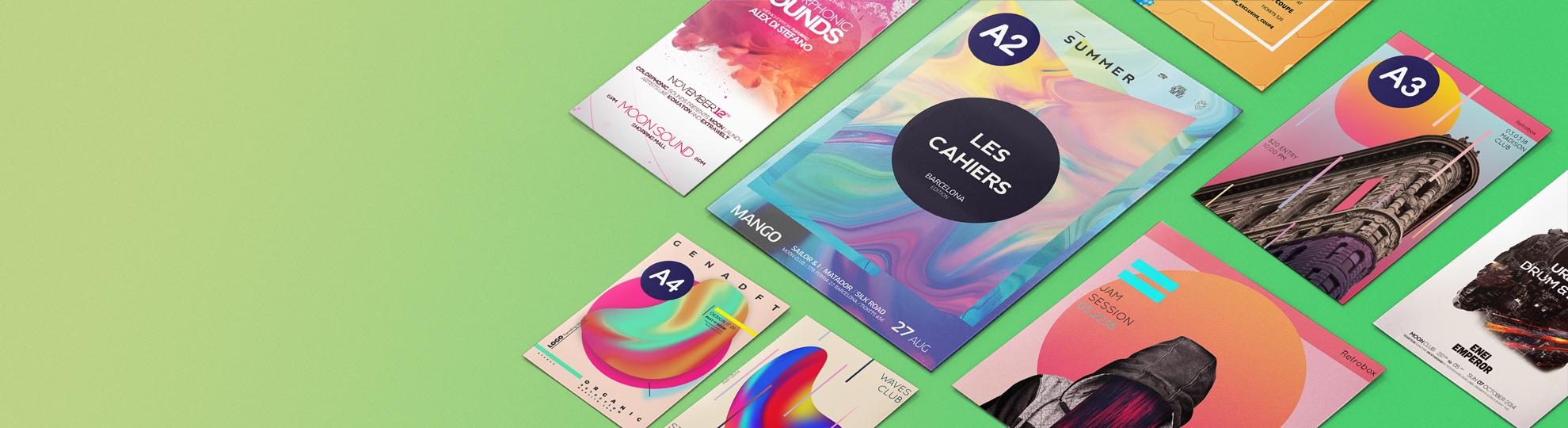 Affiche petit et moyen format publicitaire envoi express