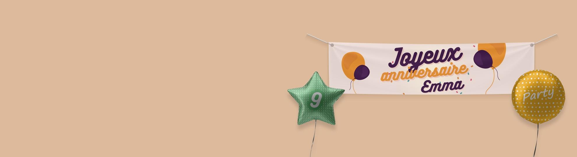 Imprimer banderole pour anniversaire