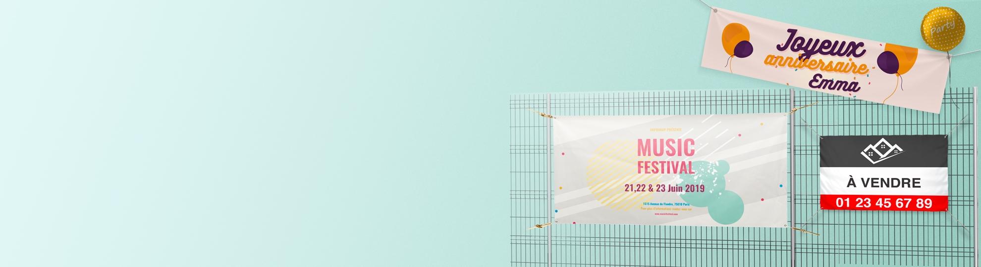 Imprimer une bâche par usages en ligne Imprim Up