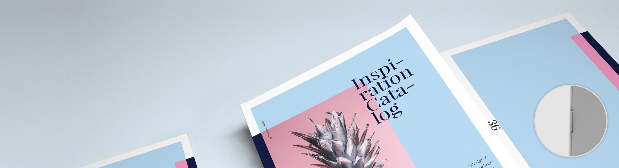 Imprimer en ligne brochure agrafée