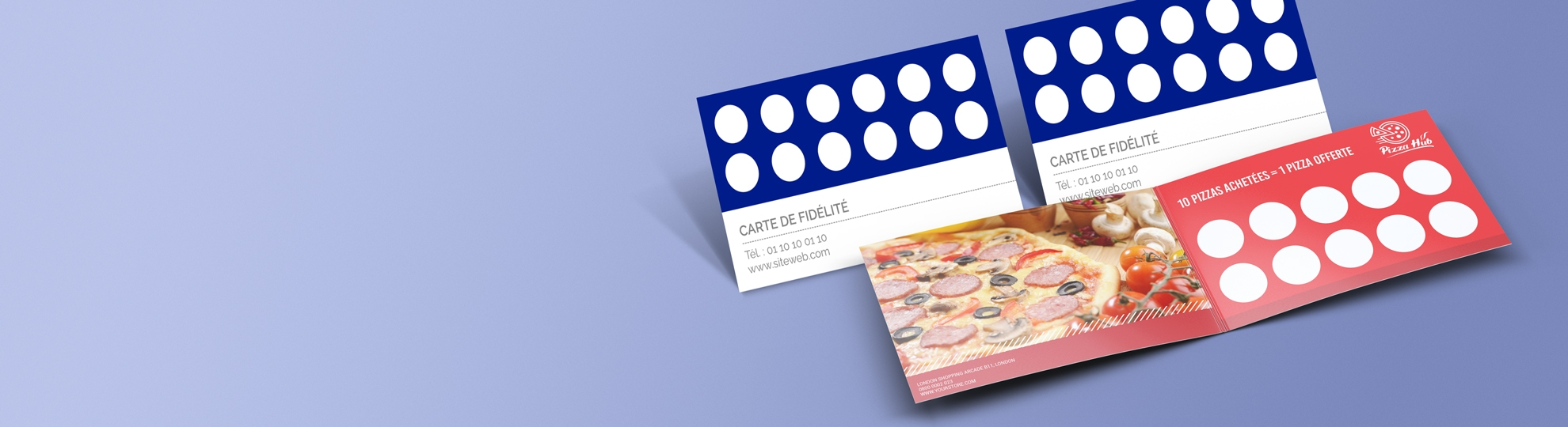 Imprimer carte de fidélité pas cher