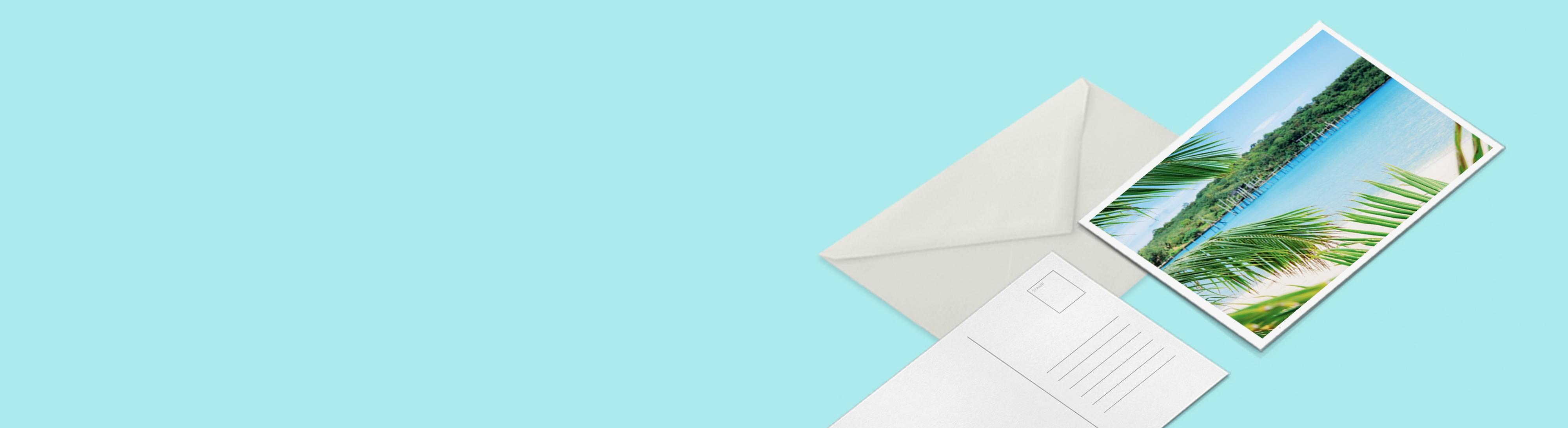 Imprimer carte postale standard personnalisée