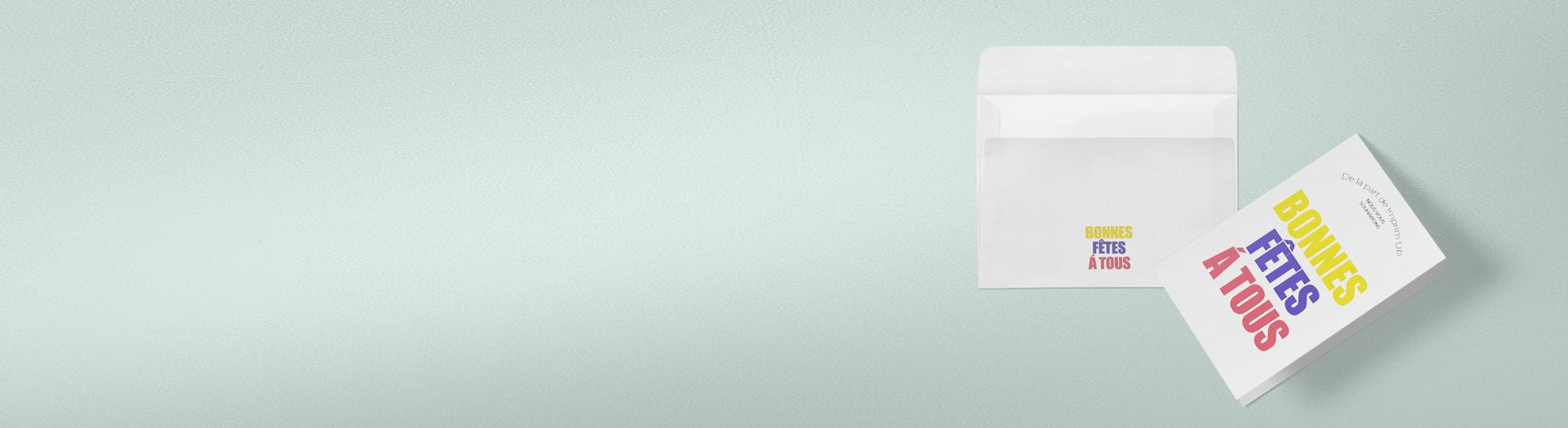 Impression carte de voeux à 2 volets