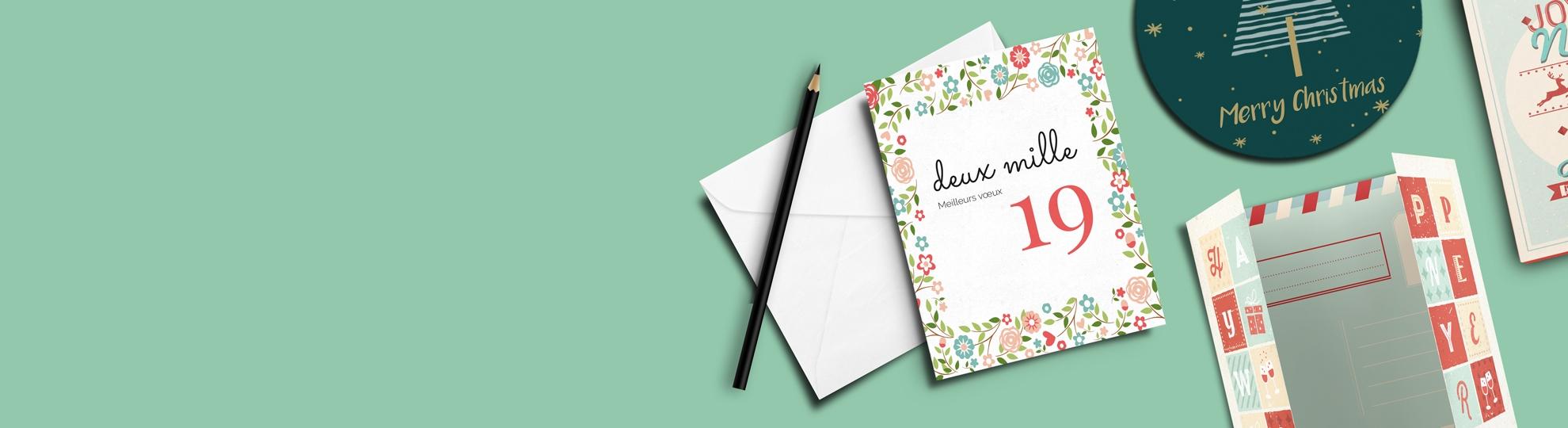 Carte de vœux à imprimer en ligne