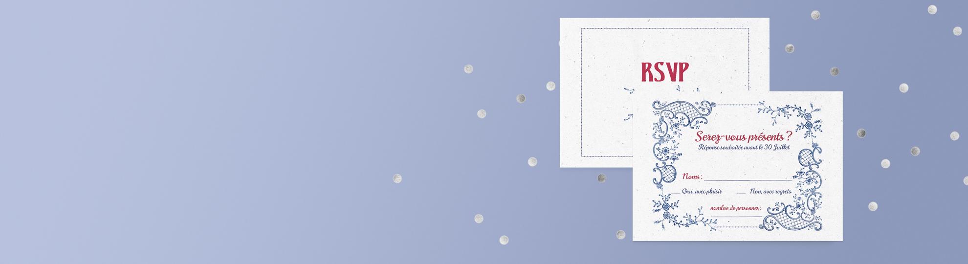 Carton d'invitation personnalisé imprimé